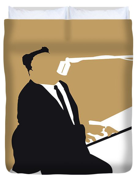 No190 My Fats Domino Minimal Music Poster Duvet Cover