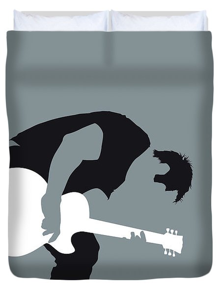 No197 My Nine Inch Nails Minimal Music Poster Duvet Cover