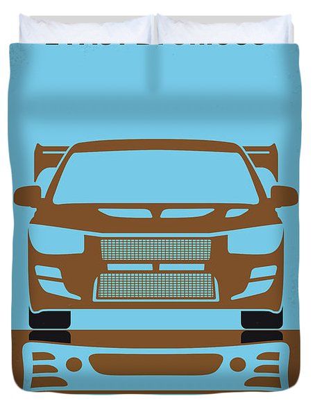No207-2 My 2 Fast 2 Furious Minimal Movie Poster Duvet Cover
