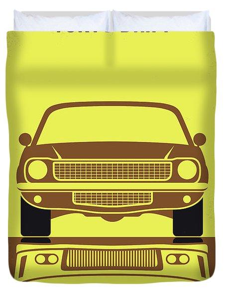 No207-3 My Tokyo Drift Minimal Movie Poster Duvet Cover