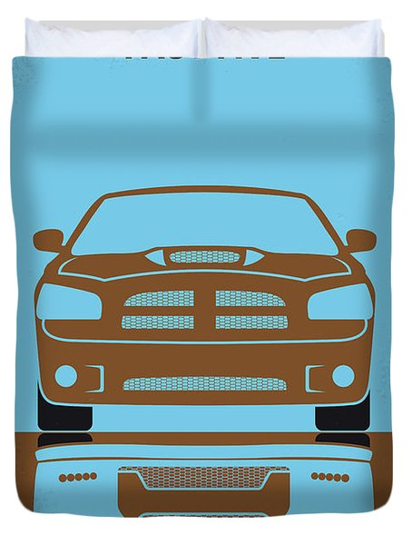 No207-5 My Fast Five Minimal Movie Poster Duvet Cover