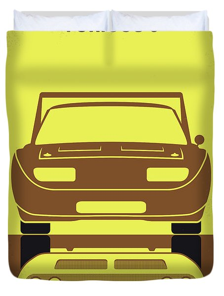 No207-6 My Furious 6 Minimal Movie Poster Duvet Cover