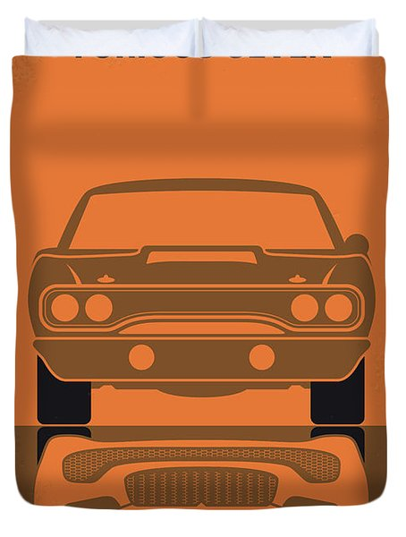No207-7 My Furious 7 Minimal Movie Poster Duvet Cover