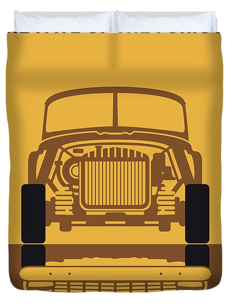 No207-8 My The Fate Of The Furious Minimal Movie Poster Duvet Cover
