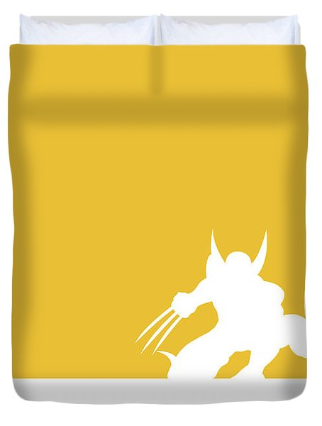 No21 My Minimal Color Code Poster Wolverine Duvet Cover