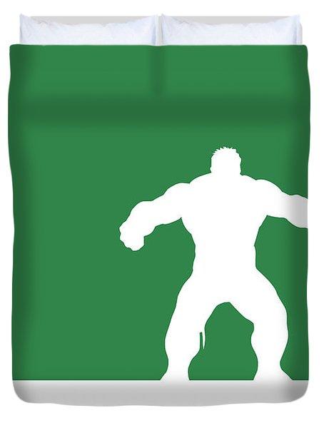No22 My Minimal Color Code Poster Hulk Duvet Cover