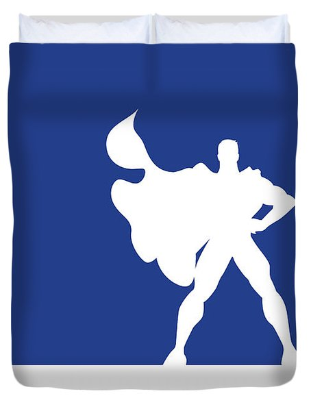 No23 My Minimal Color Code Poster Superman Duvet Cover