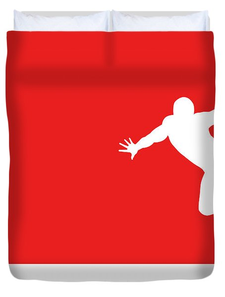 No24 My Minimal Color Code Poster Spiderman Duvet Cover