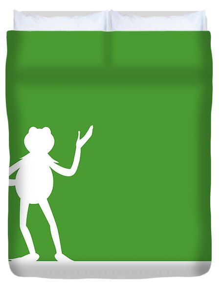 No25 My Minimal Color Code Poster Kermit  Duvet Cover
