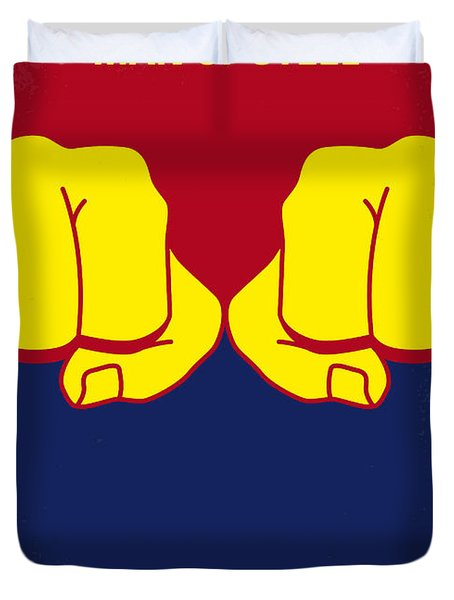 No447 My Men Of Steel Minimal Movie Poster Duvet Cover