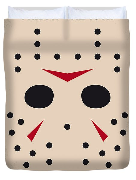 No449 My Friday The 13th Minimal Movie Poster Duvet Cover