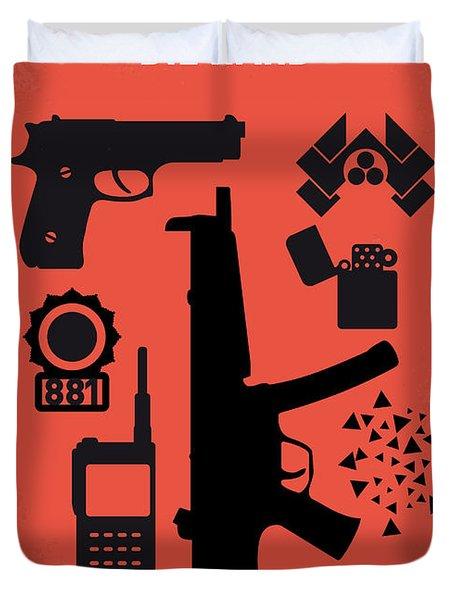 No453 My Die Hard Minimal Movie Poster Duvet Cover by Chungkong Art