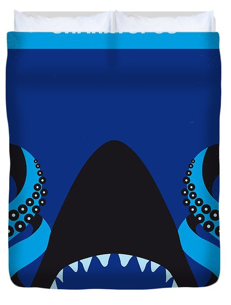 No485 My Sharktopus Minimal Movie Poster Duvet Cover