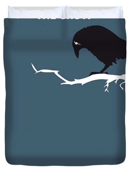 No488 My The Crow Minimal Movie Poster Duvet Cover