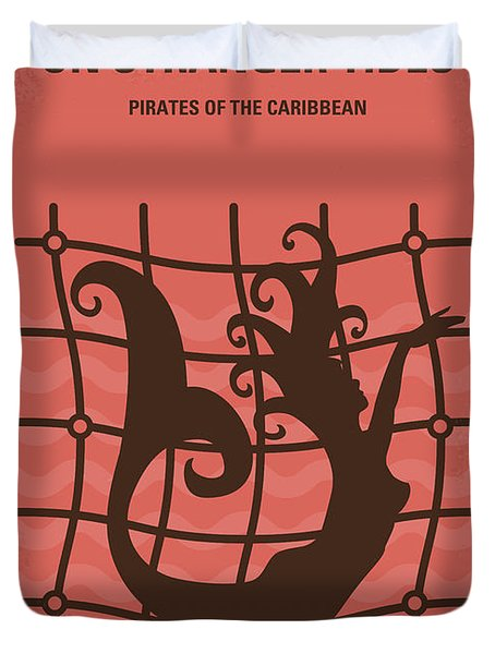 No494-4 My Pirates Of The Caribbean Iv Minimal Movie Poster Duvet Cover
