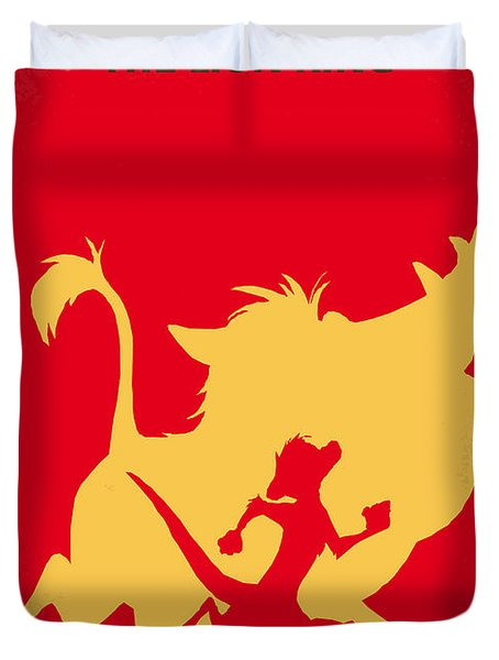 No512 My The Lion King Minimal Movie Poster Duvet Cover by Chungkong Art