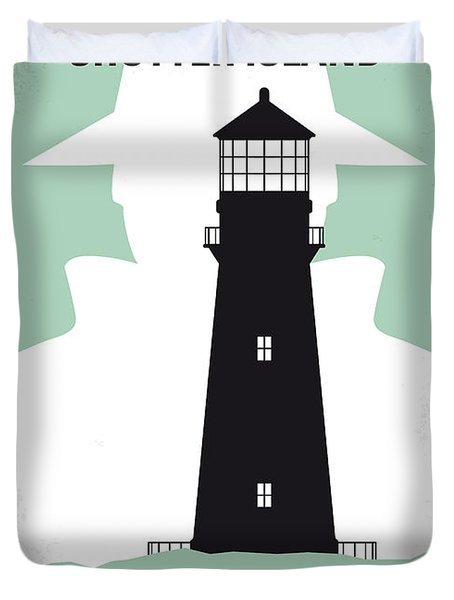 No513 My Shutter Island Minimal Movie Poster Duvet Cover