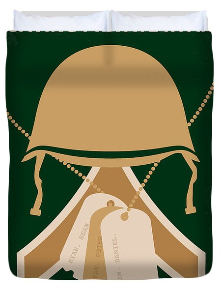 No520 My Saving Private Ryan Minimal Movie Poster Duvet Cover