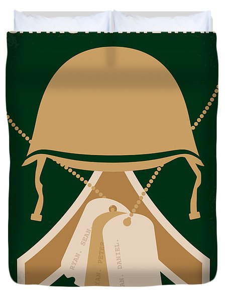 No520 My Saving Private Ryan Minimal Movie Poster Duvet Cover