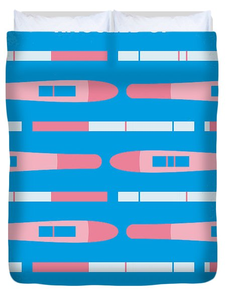 No521 My Knocked Up Minimal Movie Poster Duvet Cover