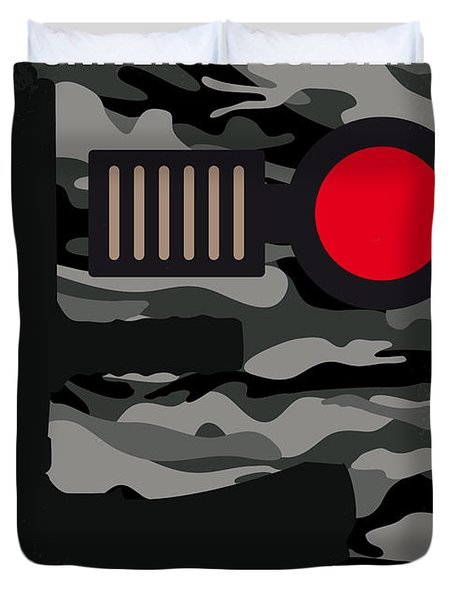No523 My Universal Soldier Minimal Movie Poster Duvet Cover