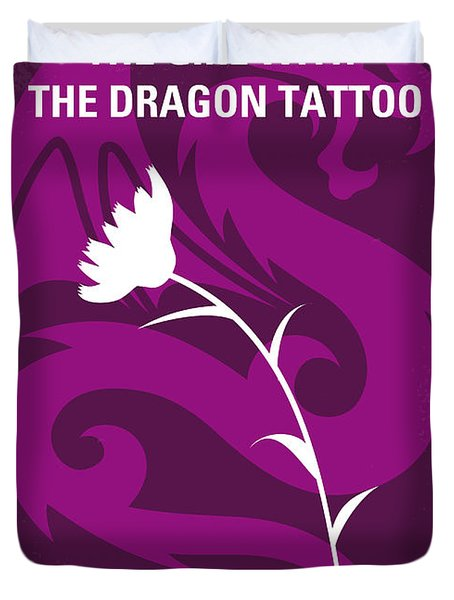 No528 My The Girl With The Dragon Tattoo Minimal Movie Poster Duvet Cover