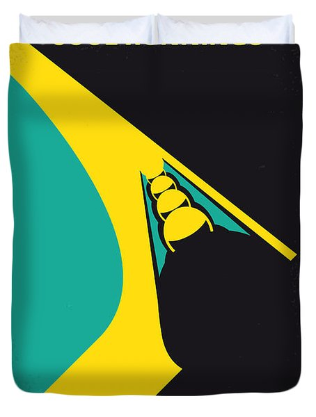 No538 My Cool Runnings Minimal Movie Poster Duvet Cover