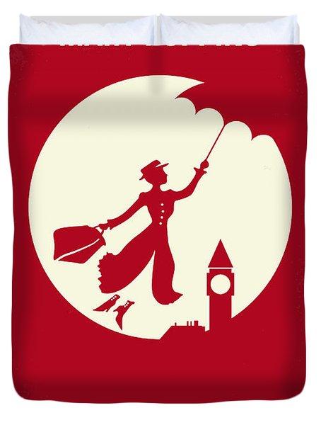 No539 My Mary Poppins Minimal Movie Poster Duvet Cover