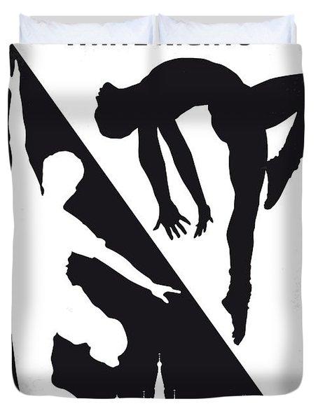 No554 My White Nights Minimal Movie Poster Duvet Cover