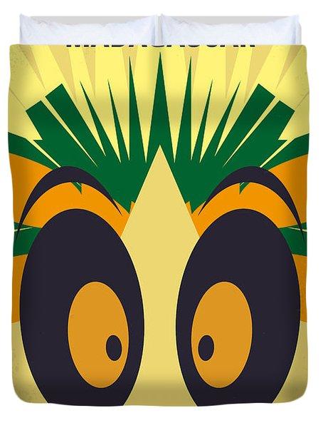 No589 My Madagascar Minimal Movie Poster Duvet Cover