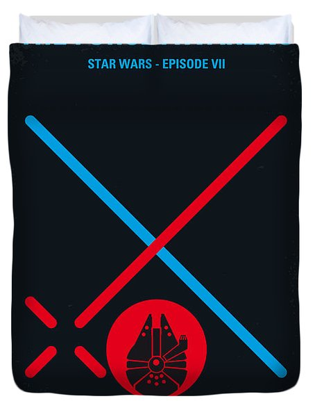 No591 My Star Wars Episode Vii The Force Awakens Minimal Movie Poster Duvet Cover