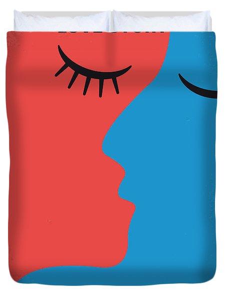 No600 My Love Story Minimal Movie Poster Duvet Cover by Chungkong Art