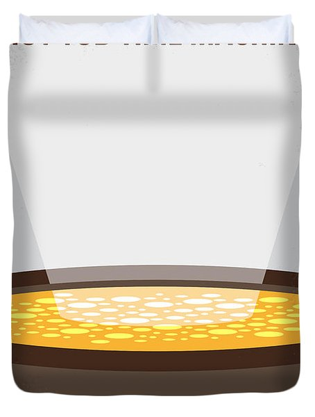 No612 My Hot Tub Time Machine Minimal Movie Poster Duvet Cover