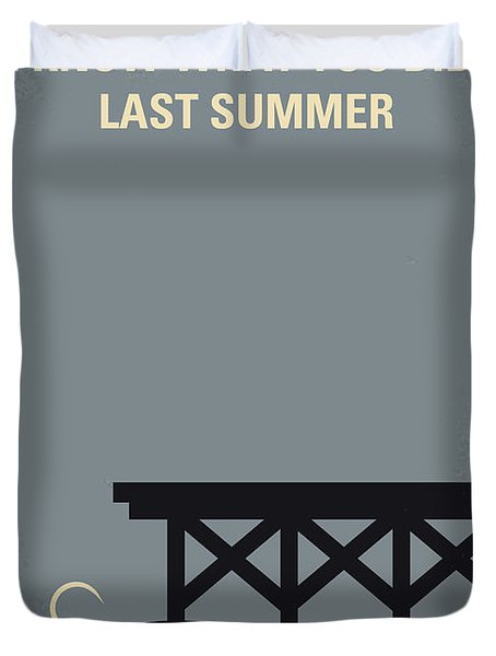 No650 My I Know What You Did Last Summer Minimal Movie Poster Duvet Cover
