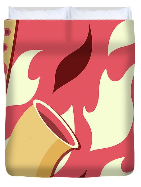 No657 My St Elmos Fire Minimal Movie Poster Duvet Cover