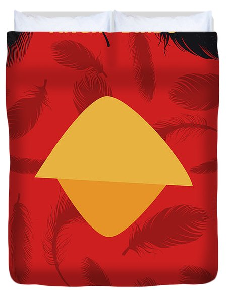 No658 My Angry Birds Movie Minimal Movie Poster Duvet Cover
