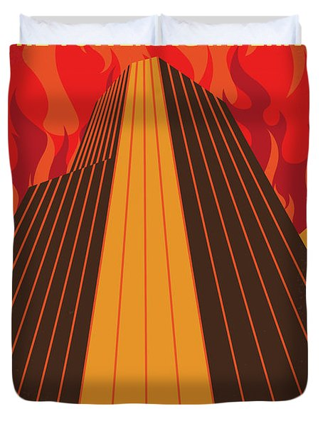 No665 My The Towering Inferno Minimal Movie Poster Duvet Cover