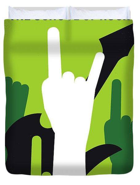 No668 My The School Of Rock Minimal Movie Poster Duvet Cover