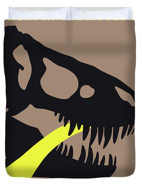No672 My Night At The Museum Minimal Movie Poster Duvet Cover