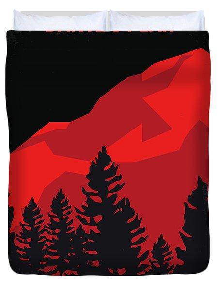 No682 My Dantes Peak Minimal Movie Poster Duvet Cover