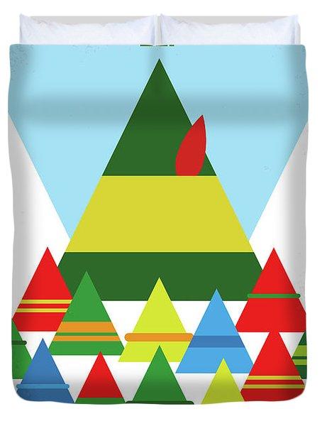 No699 My Elf Minimal Movie Poster Duvet Cover by Chungkong Art