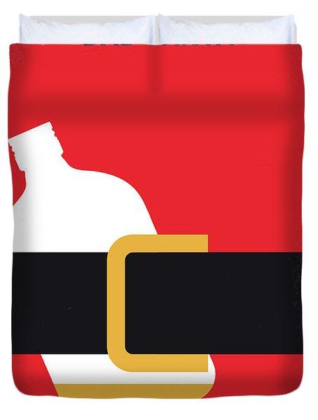 No702 My Bad Santa Minimal Movie Poster Duvet Cover