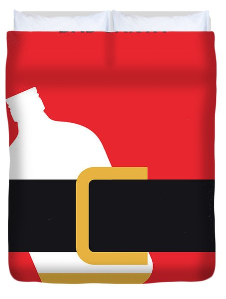 No702 My Bad Santa Minimal Movie Poster Duvet Cover by Chungkong Art