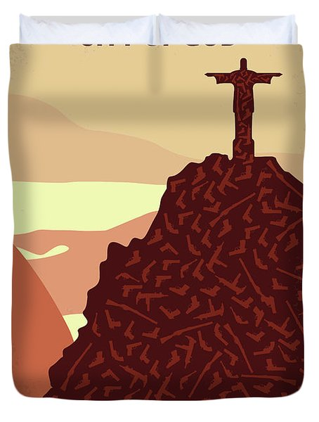 No716 My City Of God Minimal Movie Poster Duvet Cover