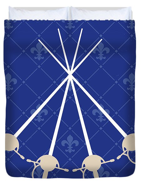 No724 My The Three Musketeers Minimal Movie Poster Duvet Cover