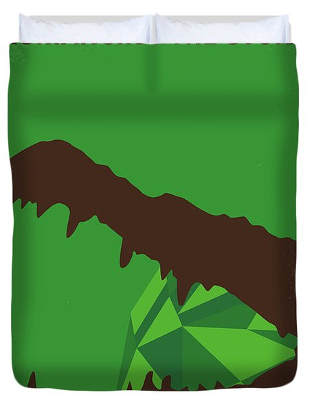 No732 My Romancing The Stone Minimal Movie Poster Duvet Cover