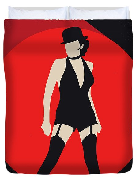 No742 My Cabaret Minimal Movie Poster Duvet Cover