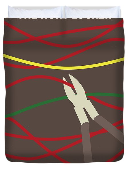 Duvet Cover featuring the digital art No746 My The Hurt Locker Minimal Movie Poster by Chungkong Art