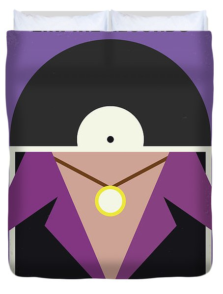 Duvet Cover featuring the digital art No750 My Empire Records Minimal Movie Poster by Chungkong Art