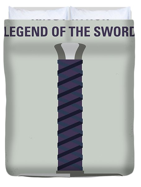No751 My King Arthur Legend Of The Sword Minimal Movie Poster Duvet Cover